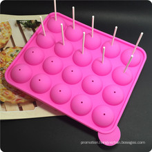 20 Silicone Tray Pop Cake Stick Mould, Lollipop, Round The Ice Membrane